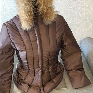 Via Spiga Women's Jacket w/hood real Fur Size XXS